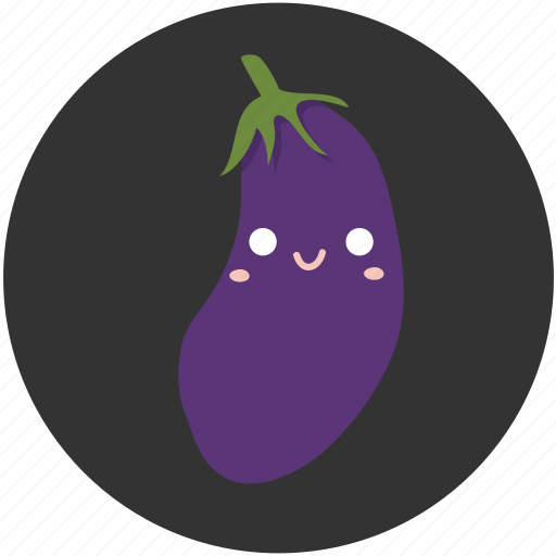 cartoon, delicious, eggplant, ingredient, vegetable, vegetarian icon