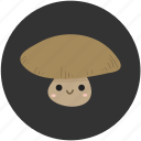 cartoon, food, ingredient, mushroom, mushrooms, vegetable, vegetarian icon