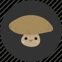 cartoon, food, ingredient, mushroom, mushrooms, vegetable, vegetarian icon
