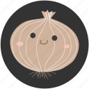 cartoon, food, ingredient, onion, vegetable, vegetarian icon