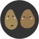 cartoon, food, ingredient, potato, vegetable, vegetarian icon