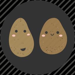 cartoon, food, ingredient, potato, vegetable, vegetarian icon
