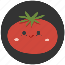 cartoon, ingredient, red, tomato, vegetable, vegetarian icon