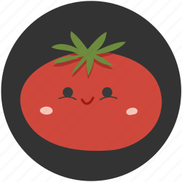 cartoon, ingredient, red, tomato, vegetable, vegetarian icon