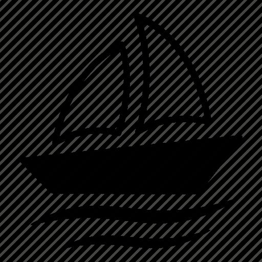 boat, sail, sailboat, ship, transport, vehicle, yacht icon
