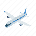 air transport, aircraft, airplane, plane, technology, transport, vehicle icon