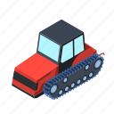 bulldozer, technology, tractor, transport, transportation, truck, vehicle icon