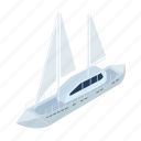 marine, ship, technology, transport, transportation, vehicle, yacht icon