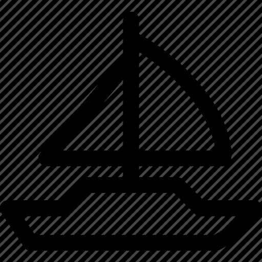 boat, ocean, sail, sailboat, ship, watercraft icon