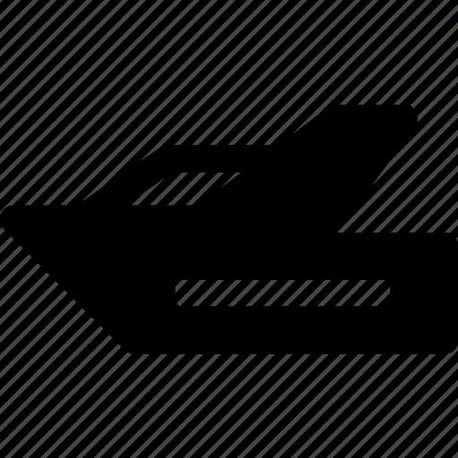 boat, motorboat, ocean, sea, ship, yacht icon