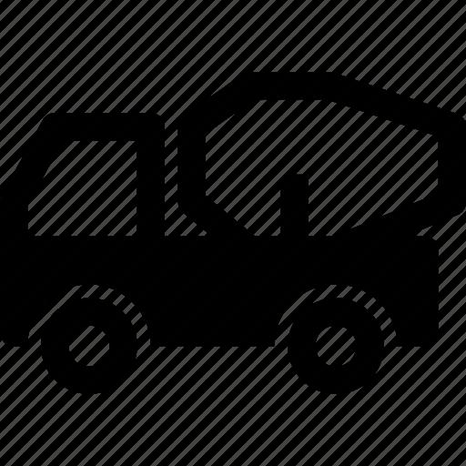 build, cement, concrete, construction, mixer, truck, vehicle icon