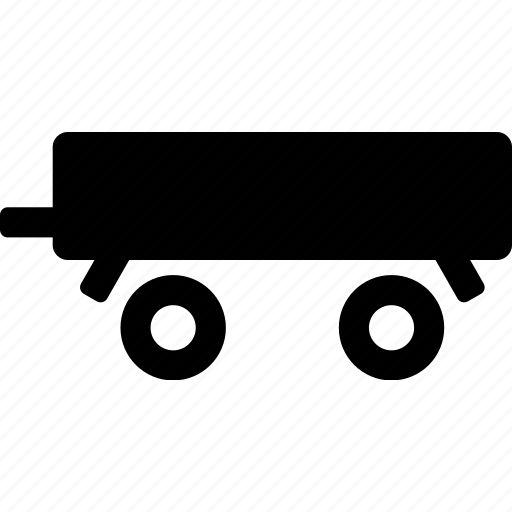 freight, logistics, lorry, low, sand, trailer, truck icon