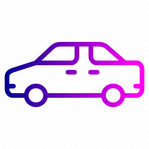 automobile, car, sideview, transport, travel, vehicle icon