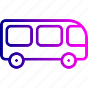 public, transport, transportation, truck, van, vehicle icon