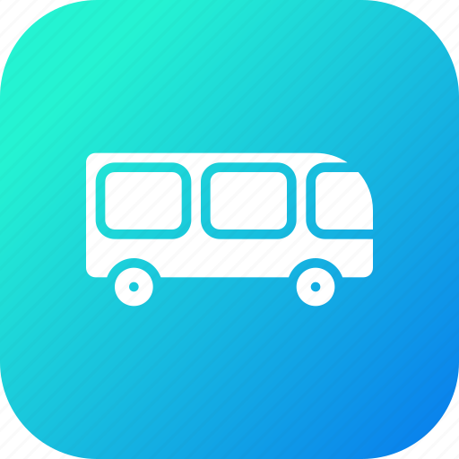 public, transport, transportation, truck, van, vehicle icon