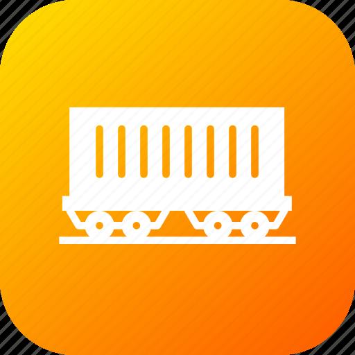 carriage, coach, railway, track, train, transport, travel icon