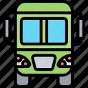bus, transportation, travel, public, service