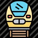 train, bullet, speed, rail, transportation
