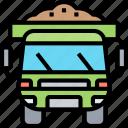 truck, dump, construction, machinery, transport