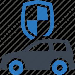 auto insurance, car, protection, shield icon