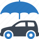 auto insurance, car insurance, protection, umbrella, vehicle icon