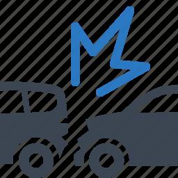 accident, auto insurance, car insurance, collision icon