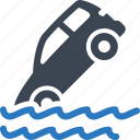 auto insurance, car insurance, flood insurance icon