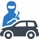 auto insurance, car insurance, protection, thief icon