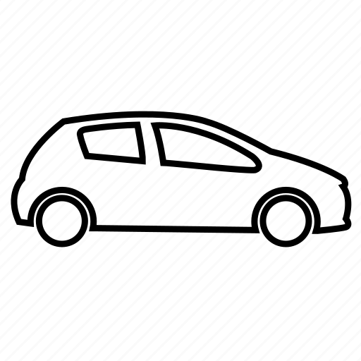auto, car, hatchback, mobile, vehicle icon