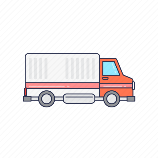 delivery, transport, truck, vehicle icon
