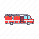emergency, fire, rescue, truck, vehicle icon