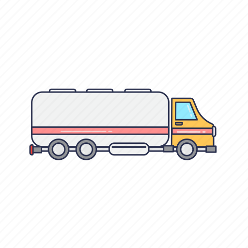 tanker, truck, vehicle, water icon