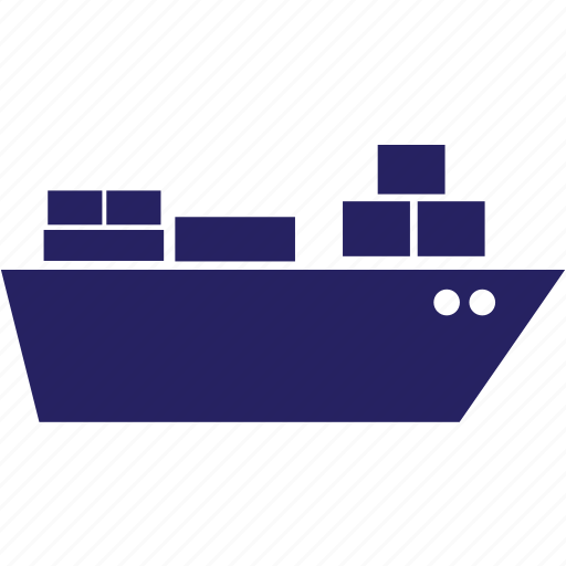 boat, delivery, sea, ship, transportation, travel, vacation icon