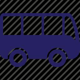 auto, automobile, minibus, road, sign, van, vehicles icon