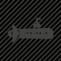 metal, ocean, ship, submarine, travel, weapon icon