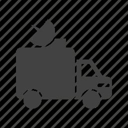 antenna, channel, news, satellite, television, van, vehicle icon