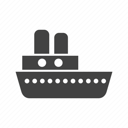 boat, lake, old, steam, steamboat, steamship, water icon