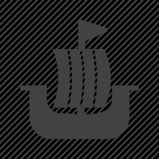 nautical, shield, ship, vessel, viking, vikings, wind icon