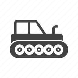 bulldozer, construction, heavy, industrial, loader, tractor, vehicle icon