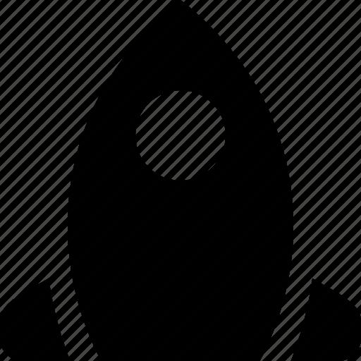 rocket, shuttle icon