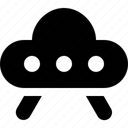 space ship, ufo icon