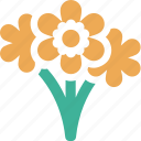 florist, flowers, plants, vendor icon