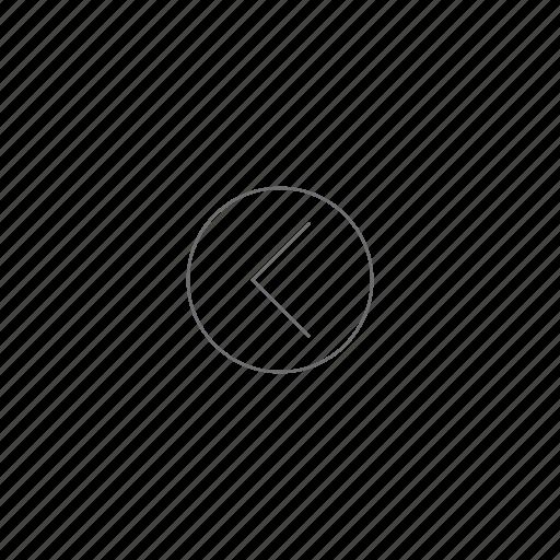 arrow, left, navigation, pointer, venti icon