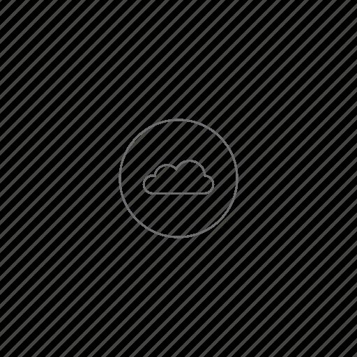 cloud, server, sky, storage, venti, weather icon