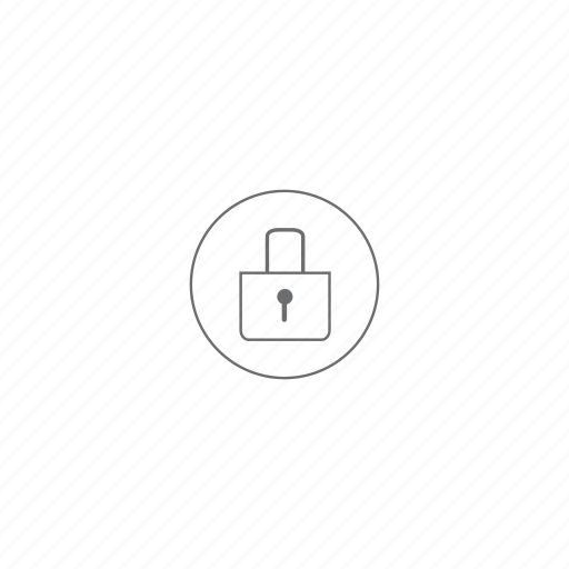 lock, locked, padlock, protect, protection, security, venti icon
