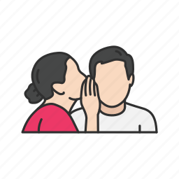 gossip, message, secret, talking icon