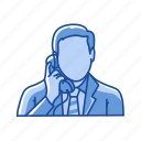 call, male, message, telephone icon