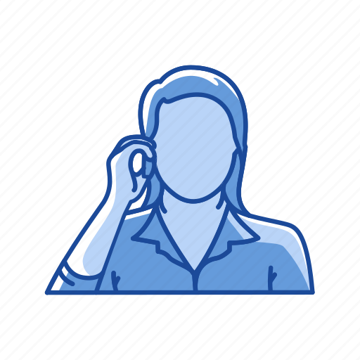 call, cellphone, female, message icon