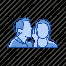 conversation, message, talking, whisper icon