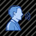 interaction, message, talk, verbal icon